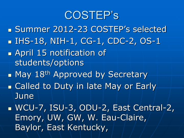 COSTEP's