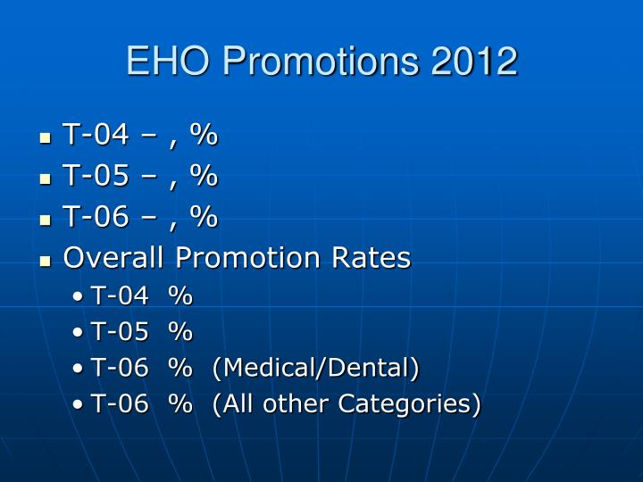 EHO Promotions 2012