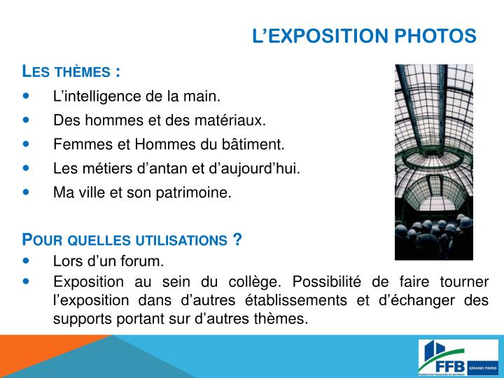 L'EXPOSITION PHOTOS