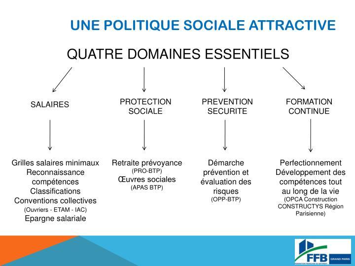 UNE POLITIQUE SOCIALE ATTRACTIVE