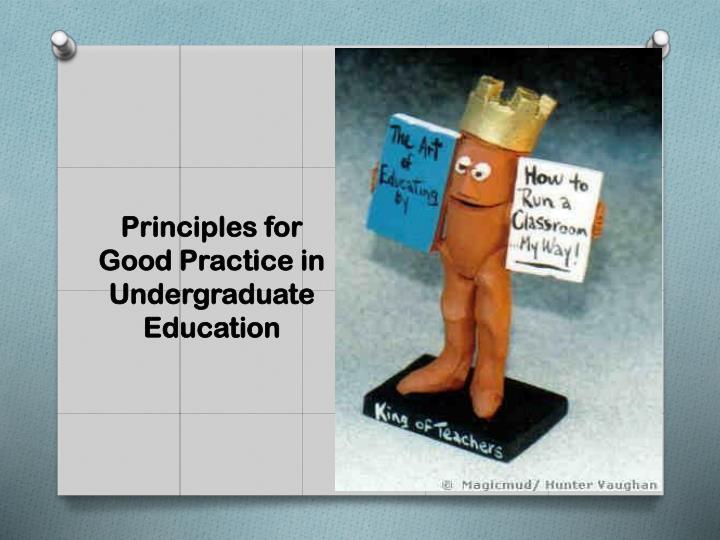 Principles for Good Practice in Undergraduate Education