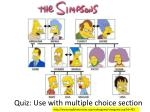 quiz use with multiple choice section