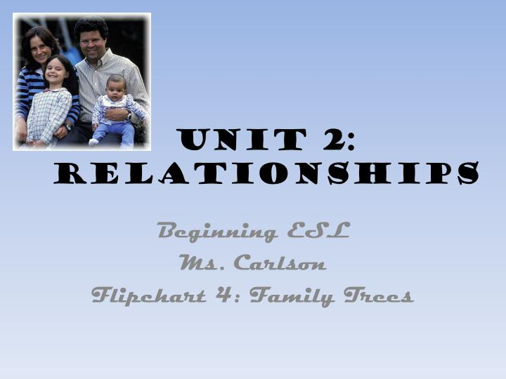 Unit 2 relationships