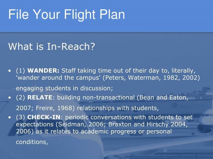 File Your Flight Plan