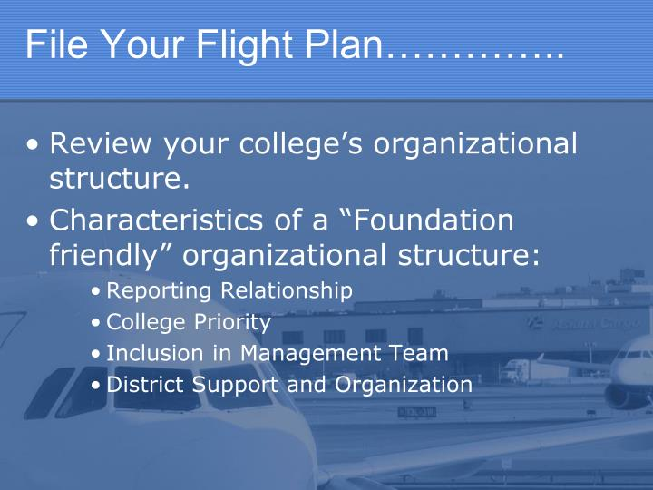 File Your Flight Plan…………..