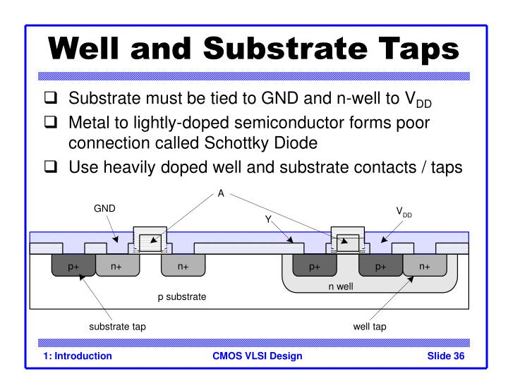 Well and Substrate Taps