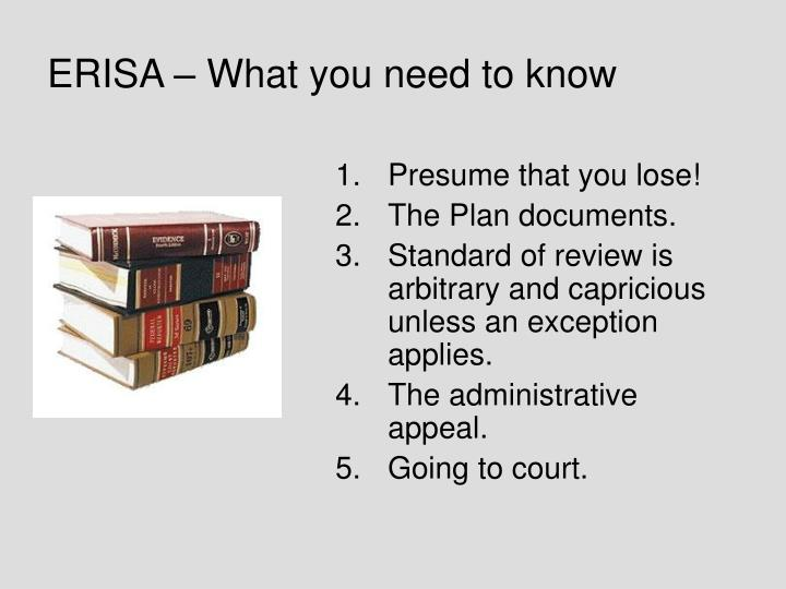 ERISA – What you need to know