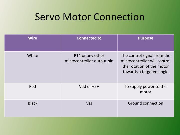 Servo Motor Connection