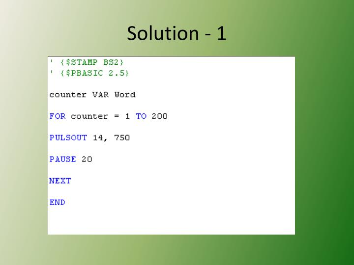 Solution - 1
