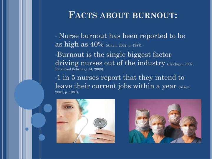 Facts about burnout: