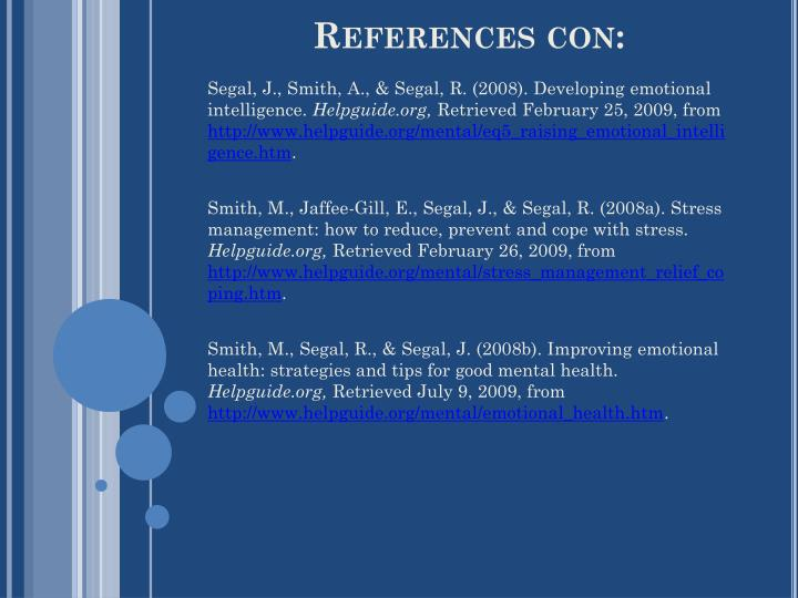 References con: