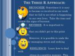 the three r approach