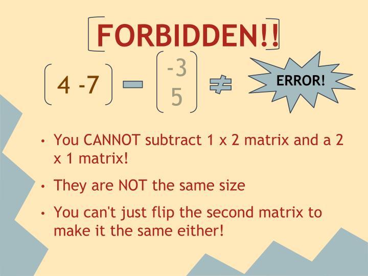 FORBIDDEN!!