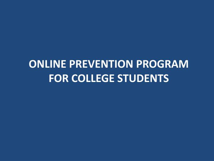 Online Prevention Program for College students