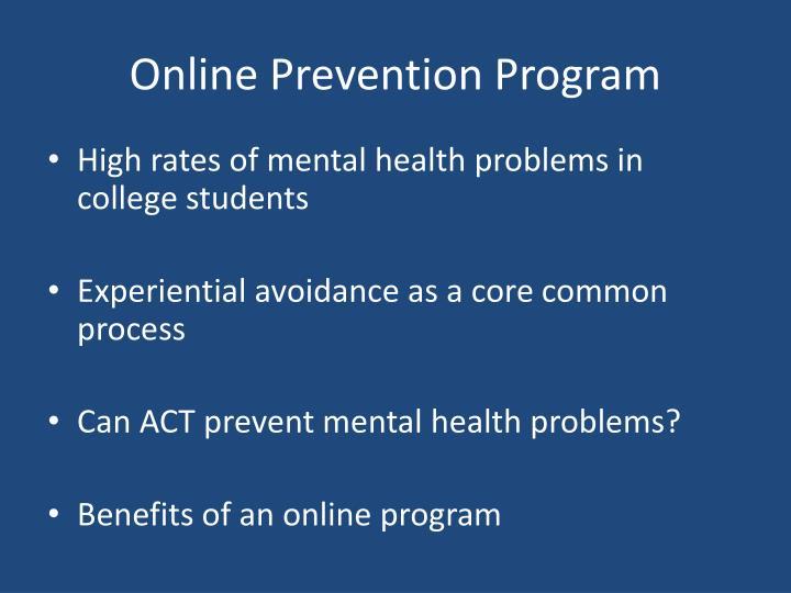 Online Prevention Program