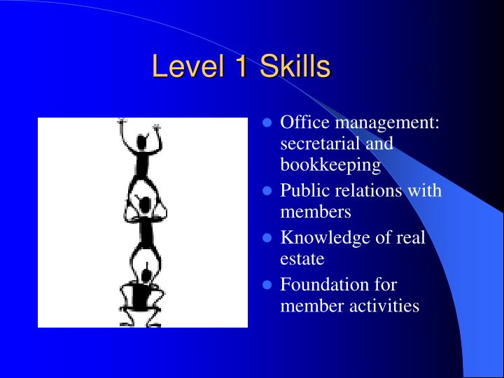Level 1 Skills