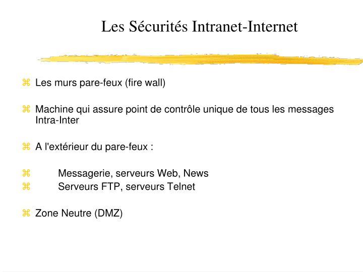 Les Sécurités Intranet-Internet