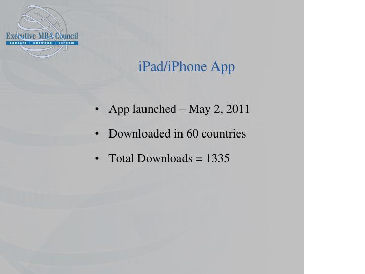 iPad/iPhone App