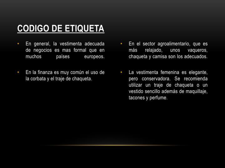 CODIGO DE ETIQUETA