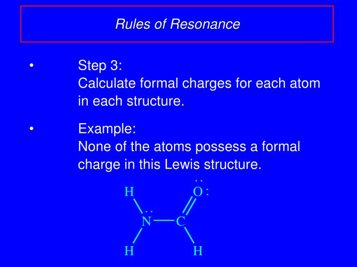 Rules of Resonance