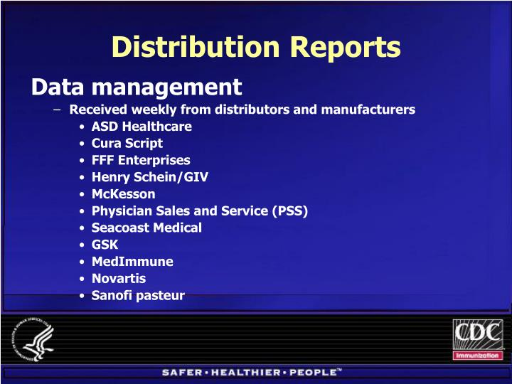 Distribution Reports