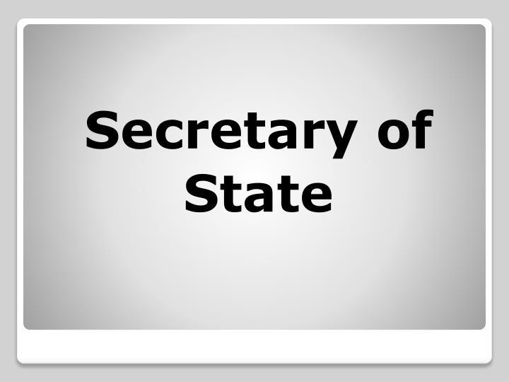 Secretary of