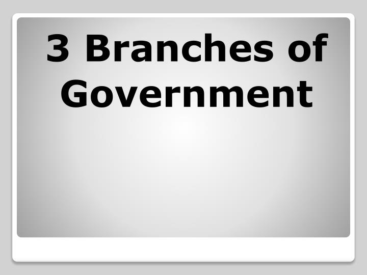 3 Branches of