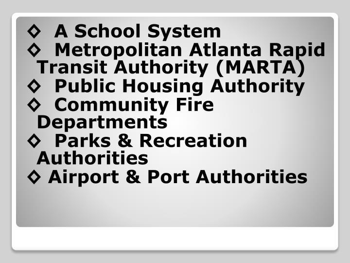 ◊  A School System