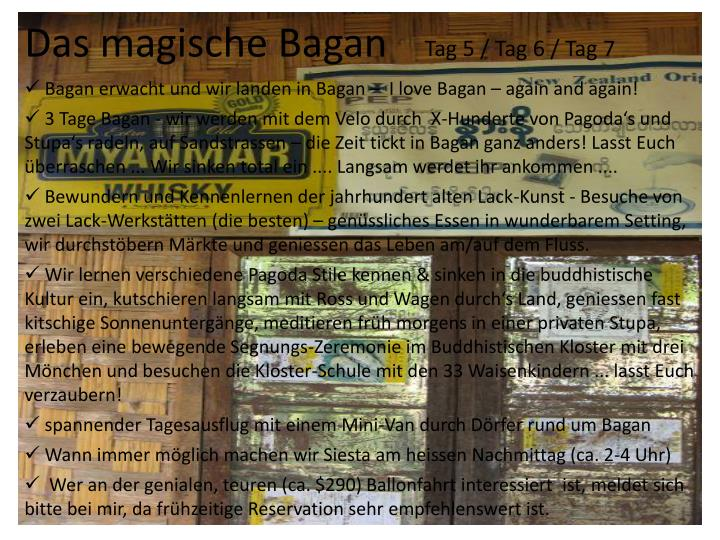 Das magische Bagan