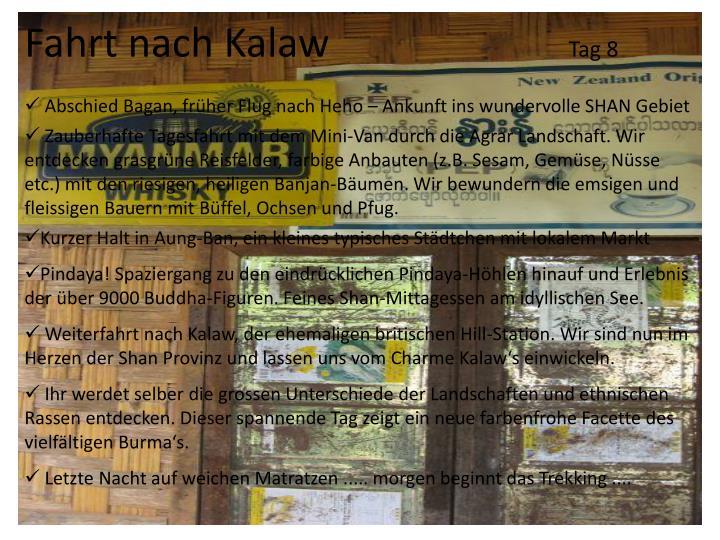 Fahrt nach Kalaw
