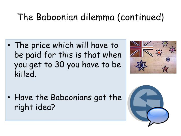 The Baboonian dilemma (continued
