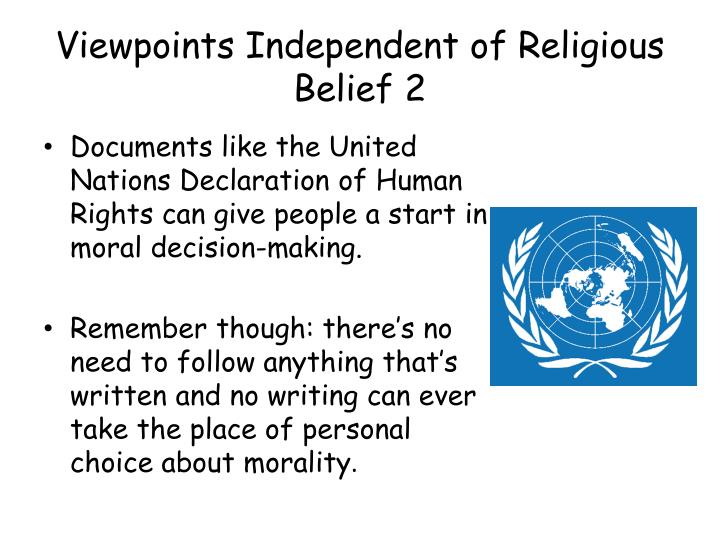 Viewpoints Independent of Religious Belief 2