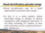 rural electrification and solar energy