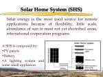 solar home system shs