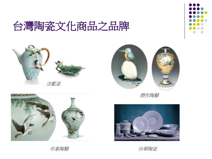 台灣陶瓷文化商品之品牌