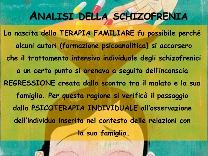 Analisi della schizofrenia