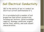 soil electrical conductivity