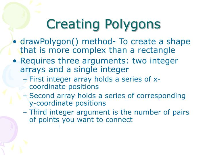 Creating Polygons