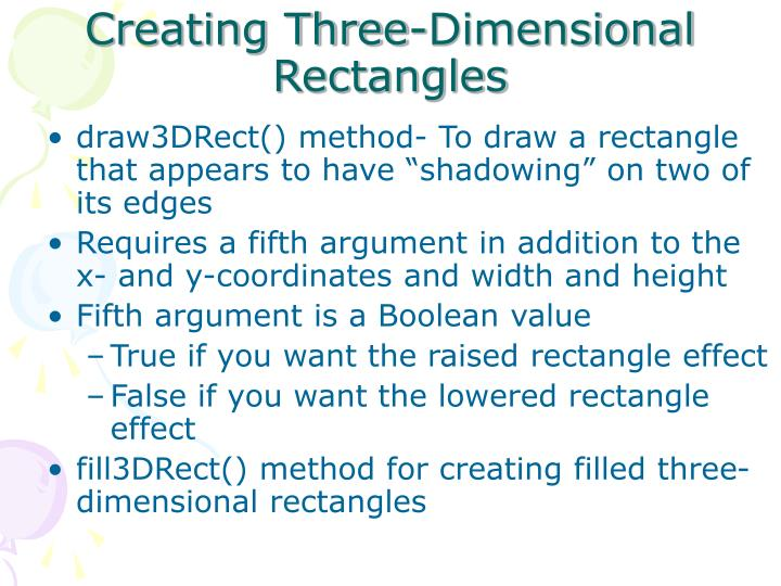 Creating Three-Dimensional Rectangles