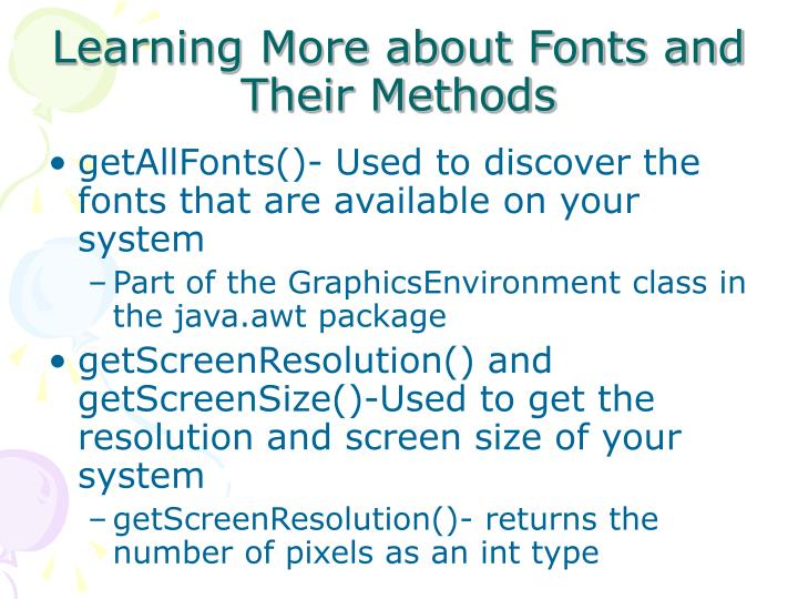 Learning More about Fonts and Their Methods