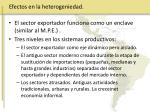 efectos en la heterogeniedad