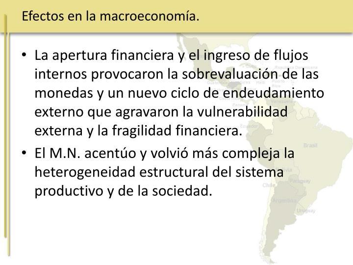 Efectos en la macroeconomía.