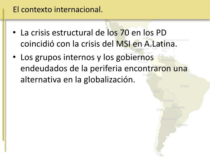 El contexto internacional.