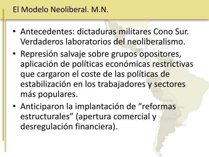 El Modelo Neoliberal. M.N.