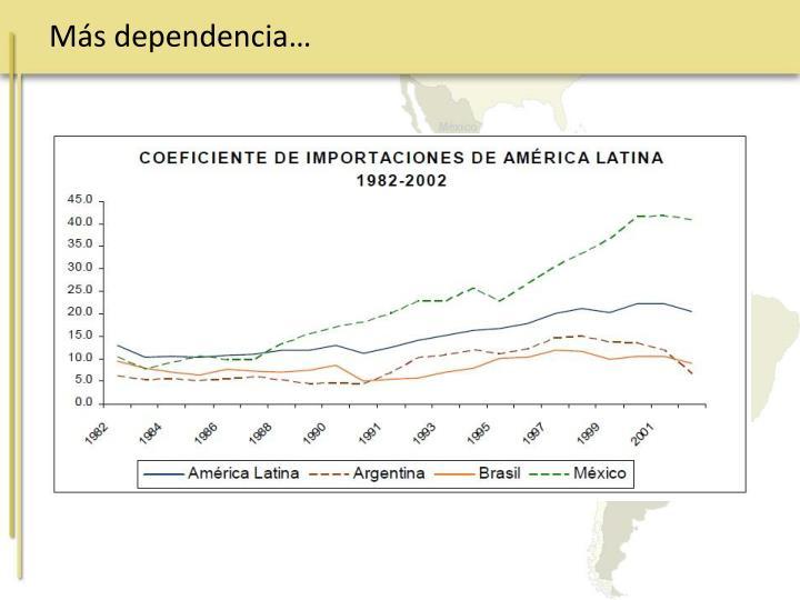 Más dependencia…