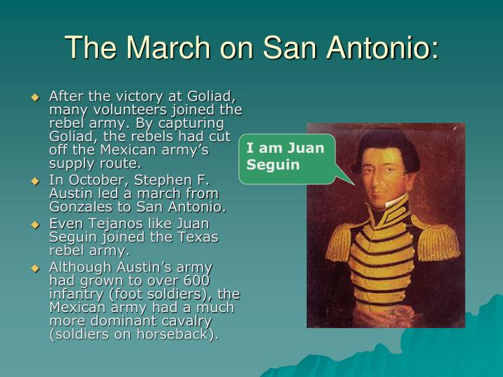 The March on San Antonio: