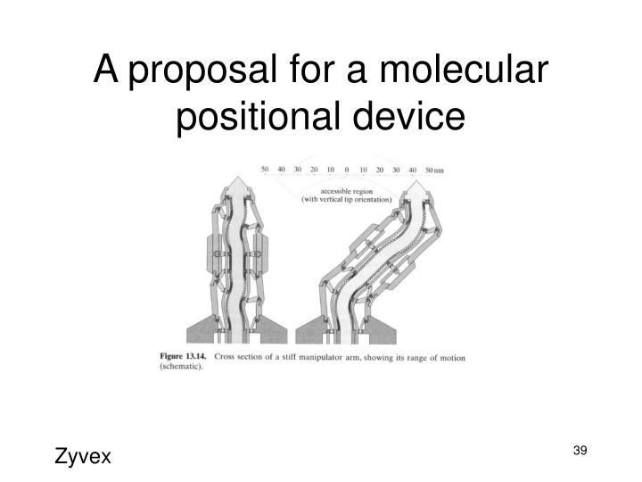 A proposal for a molecular positional device