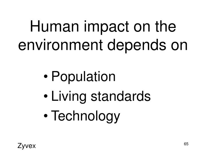 Human impact on the environment depends on