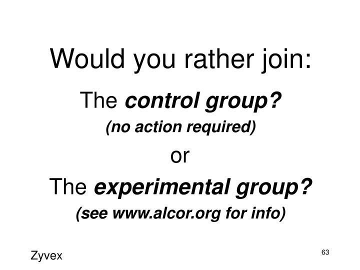 Would you rather join:
