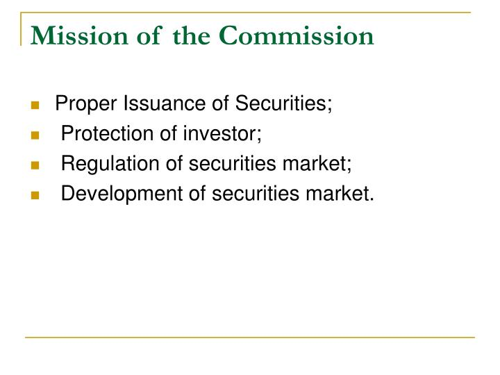Mission of the Commission